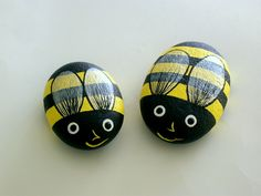 Bumble Bee Painted Rocks Summer By RockArtiste On Etsy