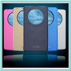 LG G3 - Executive Clock Window View Flip Case in Assorted Colors