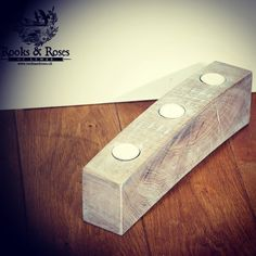 Solid reclaimed Sussex oak given a limed finish and then drilled...