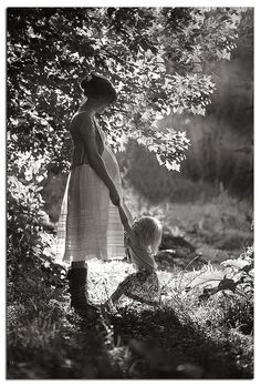 maternity in the woods by sallykatephotography, via Flickr
