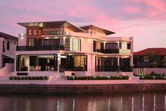 Superbe villa contemporaine avec port privé et piscine sur l'île Sovereign, Australie,  #construiretendance