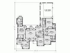 Eplans French Country House Plan - Four Bedroom French Country - 3538 Square Feet and 4 Bedrooms from Eplans - House Plan Code HWEPL69942