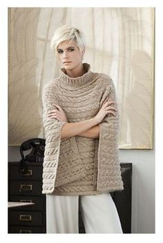 Cabled Poncho pattern by Norah Gaughan