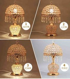 Fashion ofhead k9 crystal table lamp luxury crystal table lamp for bedroom lobby table lamp with remote control 3 Color Optional