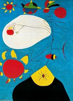 Joan Miro - Portrait IV 1938 Once again it is difficult to make out what this is a painting of. Spanish Painters, Spanish Artists, Joan Miro Pinturas, Miro Artist, Joan Miro Paintings, Oil Painting Reproductions, Famous Artists, Oeuvre D'art, Art History