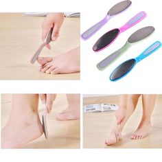 Foot File Double Side Manicure Pedicure Stainless Steel Nail Care Tool Kits New #Unbranded