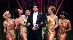<p>Colin Donnell and the cast of Anything Goes</p>