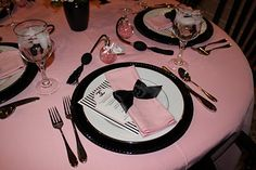Coco Chanel dinner party  www.tablescapesbydesign.com https://www.facebook.com/pages/Tablescapes-By-Design/129811416695