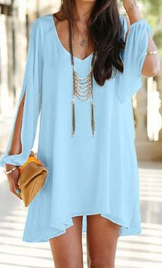 lovely long sleeve chiffon dress