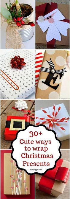 Christmas wrapping ideas Check out these cute ideas for wrapping Christmas gifts! 30 Christmas Wrapping IdeasCheck out these cute ideas for wrapping Christmas gifts! Noel Christmas, Homemade Christmas, Diy Christmas Gifts, Christmas Projects, Winter Christmas, Christmas Decorations, Christmas Ornaments, Christmas Ideas, Family Christmas