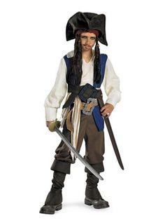 Captain Jack Sparrow Deluxe Costume | Boys TV & Movie Halloween Costumes