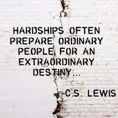 An extraordinary Destiny. @InshaalKhizar ~C.S.Lewis quotes