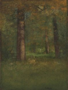 """laclefdescoeurs: """"  In the Woods, Montclair, New Jersey, 1888-91, George Inness """""""