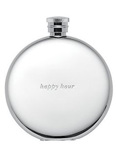 "Silver Street ""Happy Hour"" Flask, silver"