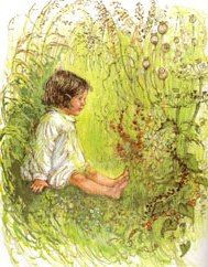 """""""The Grass House"""", Shirley Hughes. My daughter used the poem that goes with this illustration in her school's speech festival."""