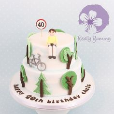 Cycling cake.... I'm working on this theme at the moment actually it'll be interesting to see how different it looks this time  #reallyyummycakes #cakedesigner #bespokecakes #hampshirecakes #winchestercakes #cakes #birthdaycake #40thbirthday #cycling #cyclingcake