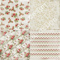 Vintage Scrapbook Papers and Digital Paper Pack by TiramisuDesign