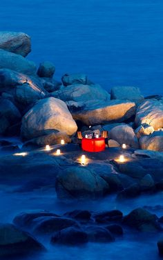Dinner on the Rocks at Angsana Bintan in Indonesia