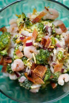 Bacon Shrimp Broccoli Salad reluctantentertainer.com