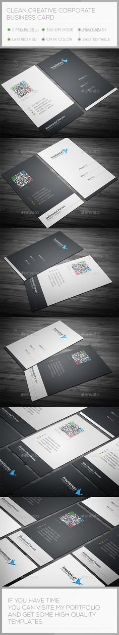 117 best business cards psd with qr code images on pinterest clean creative business card colourmoves