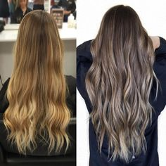 It's about that time to go a little darker #lowlights #sombre #fallhair #brunette #bronde #prettyhair #longhair #hairinspo #hairbybrittanyy