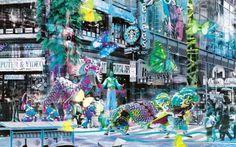 Parade of Change - Joseph Klibansky Contemporary Mixed Media Artist