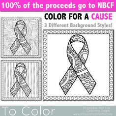 cancer color sheets | Breast Cancer Awareness Coloring Pages ...