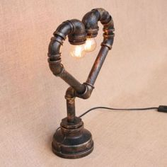 Pipe Lighting, Copper Lighting, Industrial Design Furniture, Pipe Furniture, Desk Lamp, Table Lamp, Lampe Tube, Pipe Decor, Pipe Table