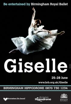 Nao Sakuma as Giselle, Birmingham Royal Ballet poster artwork 2008