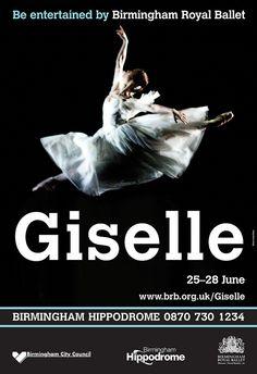 Nao Sakuma as Giselle, Birmingham Royal Ballet poster artwork 2008