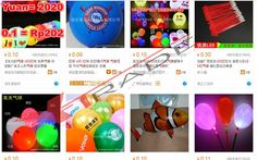 Barang import alibaba Balon LED