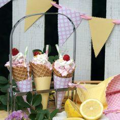 A Little Loveliness- raspberry lemonade ice cream