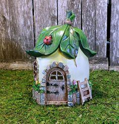Leaf Fairy Garden Cottage Miniature Garden by TheEnchantedAcorn