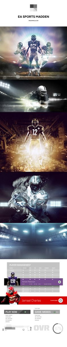 motion graphics/ storyboards/ styleframes | EA Sports Madden 13 by Phil Rampulla
