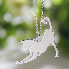 Aliexpress.com : Buy 1pcs Stretching Greyhound Necklace Dog Pendant Whippet Italian  Necklaces & Pendants Silver Necklace Charm Women Christmas Gift from Reliable silver necklace suppliers on Paw Paw House Urbanlife Store