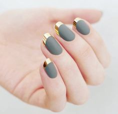 Cant wait to try these trendy holiday inspired green and gold nails #metallicnailart #winternails #holidaybeauty