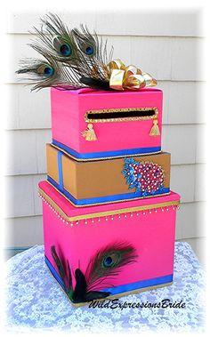 INDIAN Hindu Wedding Card Money Box Beads by WildExpressionsBride  www.wildexpressionsbride.etsy.com