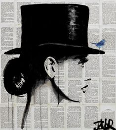 "ARTIST SPOTLIGHT – LOUI JOVER: ""top hat""; Drawing; 33.5H x 30.7W x 0 in, $750"