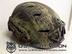 US Night Vision Kryptek Hydro Graphics for Team Wendy EXFIL helmet, Kryptek Mandrake. Tactical Helmet, Airsoft Helmet, Airsoft Guns, Paintball Guns, Survival Prepping, Survival Gear, Emergency Preparedness, Survival Skills, Hydro Graphics