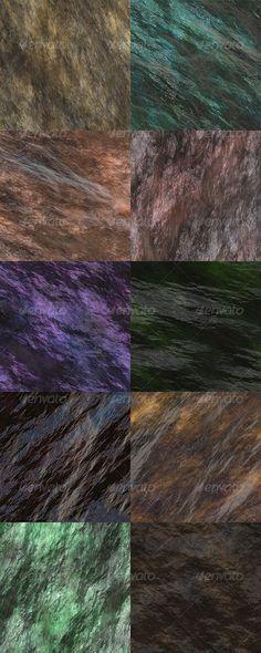 Wet Stone Seamless Textures