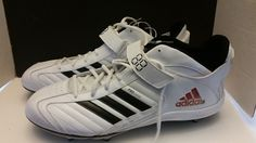 Adidas Mens Football Cleats Pro Color White\Black Size 18 New #adidas #Cleats