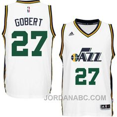 ... Buy Rudy Gobert Utah Jazz New Swingman Home White Jersey from Reliable  Rudy Gobert Utah Jazz ... d172db342