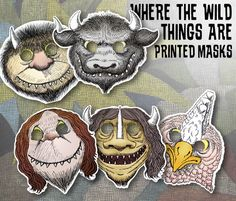 10 PRINTED Where the Wild Things Are Theme Birthday Party Mask Set by OhWowDesign on Etsy https://www.etsy.com/au/listing/274280348/10-printed-where-the-wild-things-are