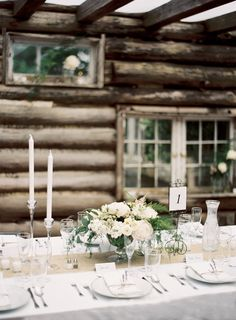 wedding tables Outdoor Rustic Polish Wedding via Once Wed Photography by Ozzy Garcia
