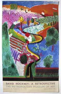 David Hockney Posters, Prints, Paintings & Wall Art for Sale David Hockney Prints, David Hockney Artwork, David Hockney Landscapes, David Hockney Artist, Museum Poster, Art Museum, Landscape Art, Landscape Paintings, Famous Art