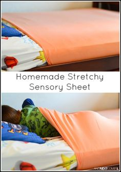 Tutorial for making homemade DIY stretchy lycra sensory sheets for kids with…