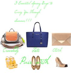 """""""3 Essential Spring Bags to Carry through Summer"""" by teressa-nicole on Polyvore"""