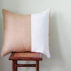 #burlappillow  #pillows #decor Burlap Pillow  20 x 20 Pillow  Decorative Pillow by MonarcaDesigns