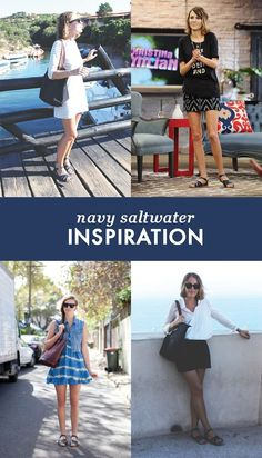 I love my navy saltwater sandals! They're perfect for any outfit!
