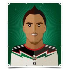 Homenaje gráfico a la selección mexicana